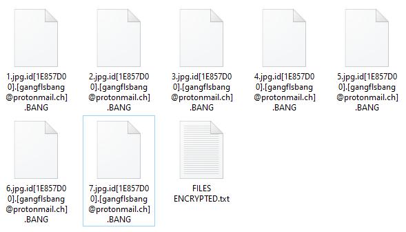 Bang encrypted files