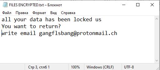 Bang ransom note