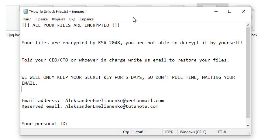 remove ColdLock ransomware
