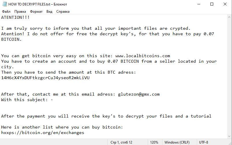remove GlUTe ransomware