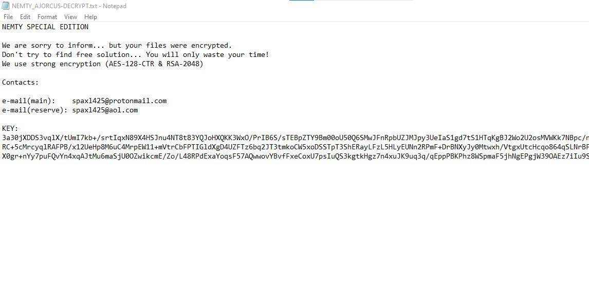 remove Nemty ransomware
