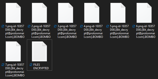 Bombo encrypted files
