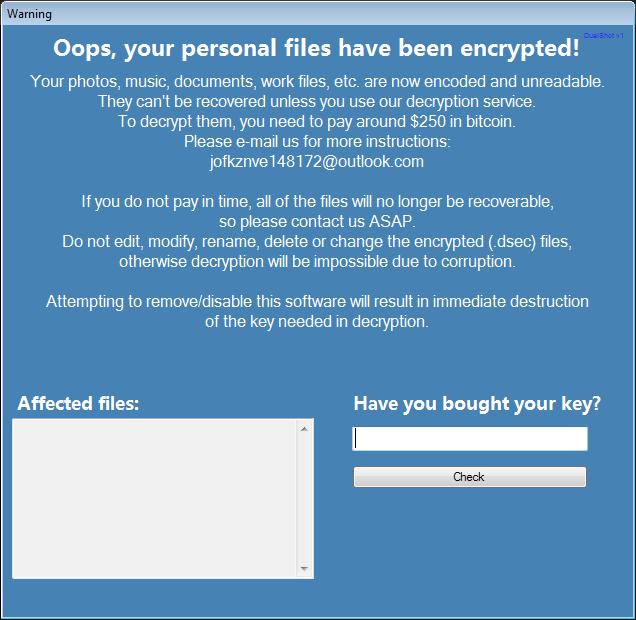 remove DualShot ransomware