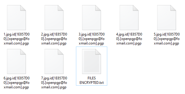 Pgp encrypted files