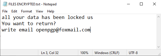 Pgp ransom note