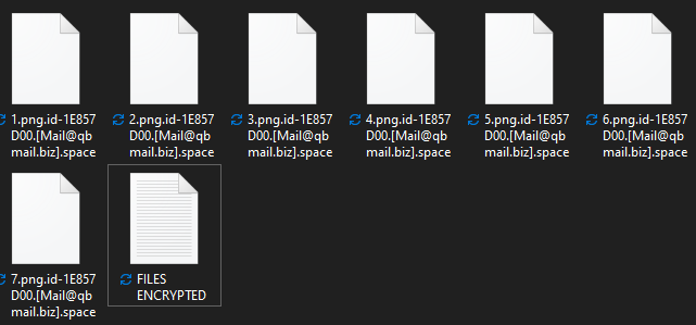 Space encrypted files