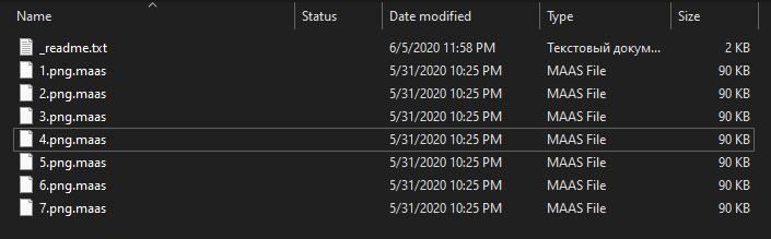 remove Maas ransomware
