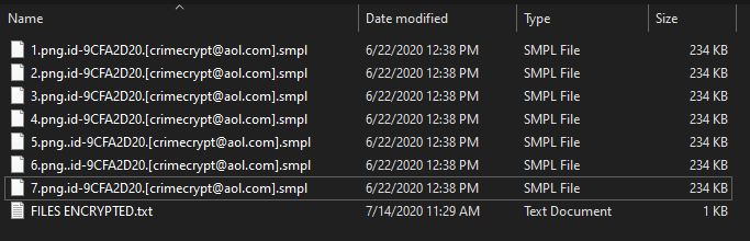 Smpl encrypted files