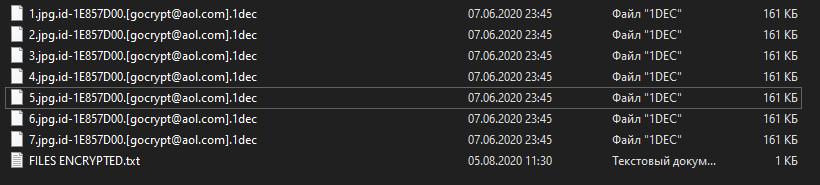 1dec encrypted files