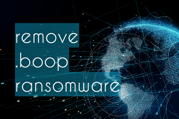 删除Boop Ransomware