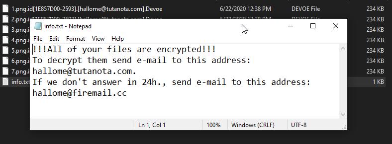премахнете Devoe ransomware