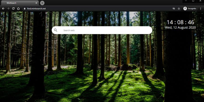 remover sequestrador de navegador do Mint Search