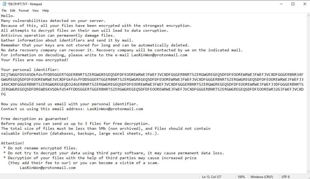 fjern Lampar ransomware