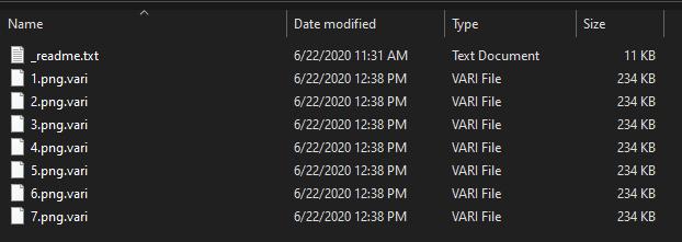 премахнете Vari ransomware