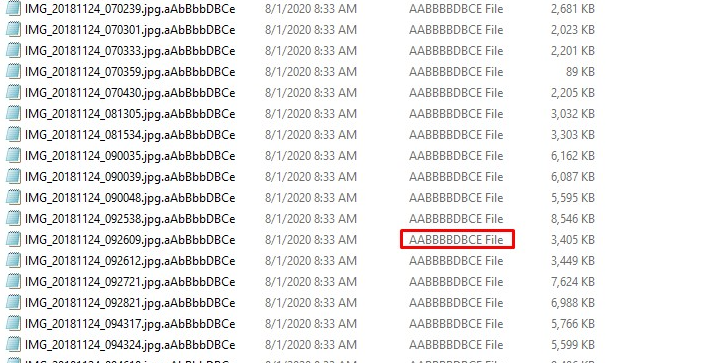 decrypt .aAbBbbDBCe files