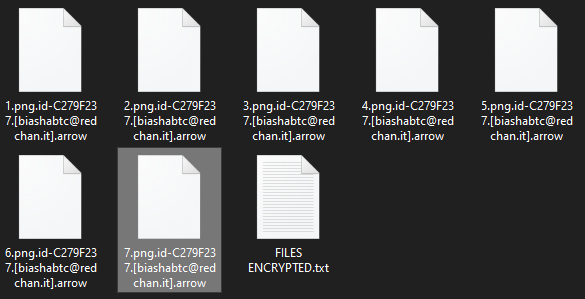 Arrow encrypted files