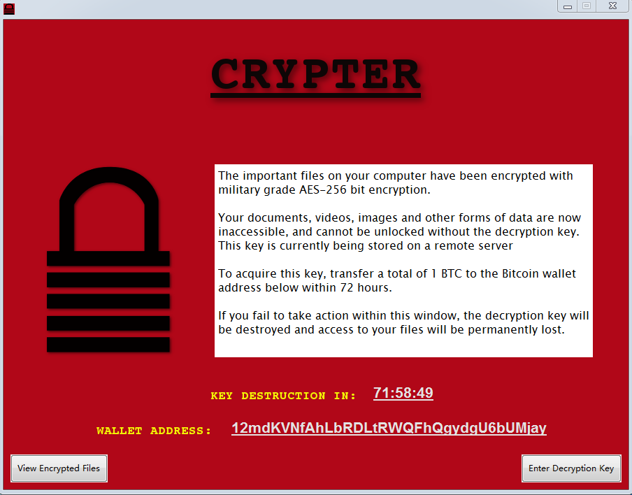 remover Crypter Ransomware