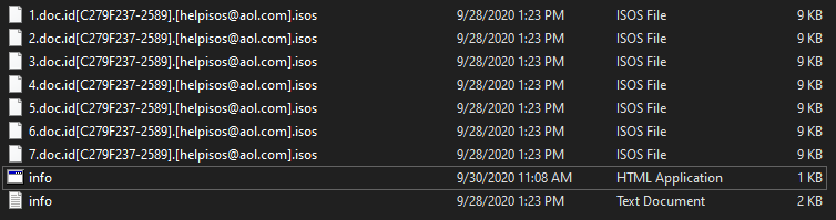 Isos encrypted files