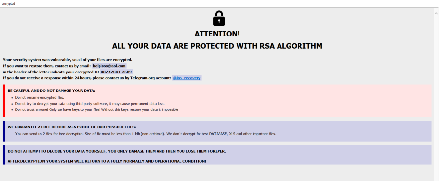 remove MessedUp ransomware
