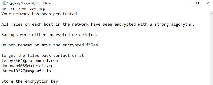 eliminați ransomware-ul Easy2lock