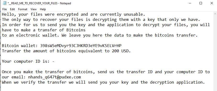 remove Encrp ransomware