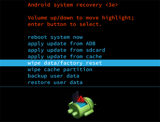 hard reset on android