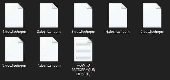 eliminați Lizehopm ransomware