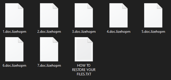 remove Lizehopm ransomware