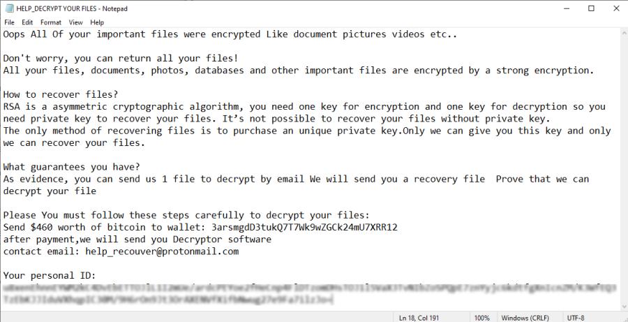 remove LockDown ransomware