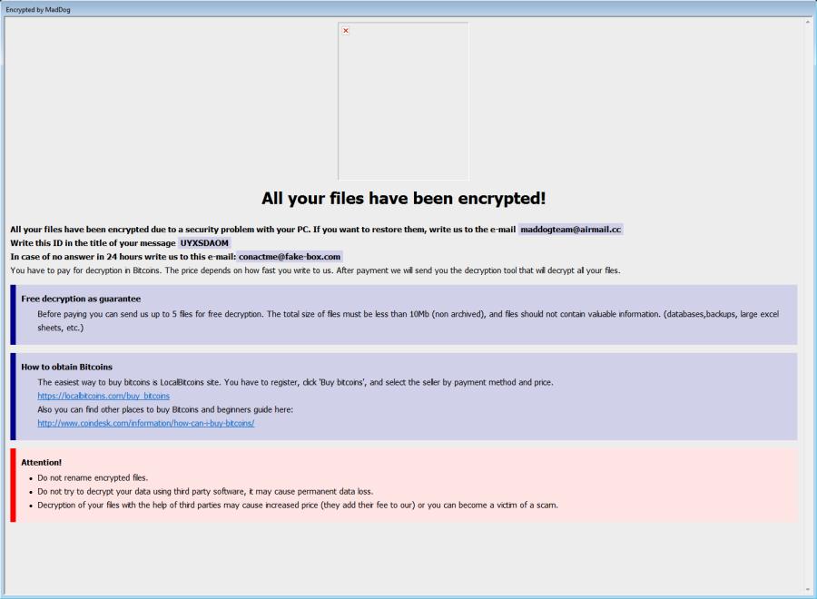 eliminați ransomware-ul MadDog