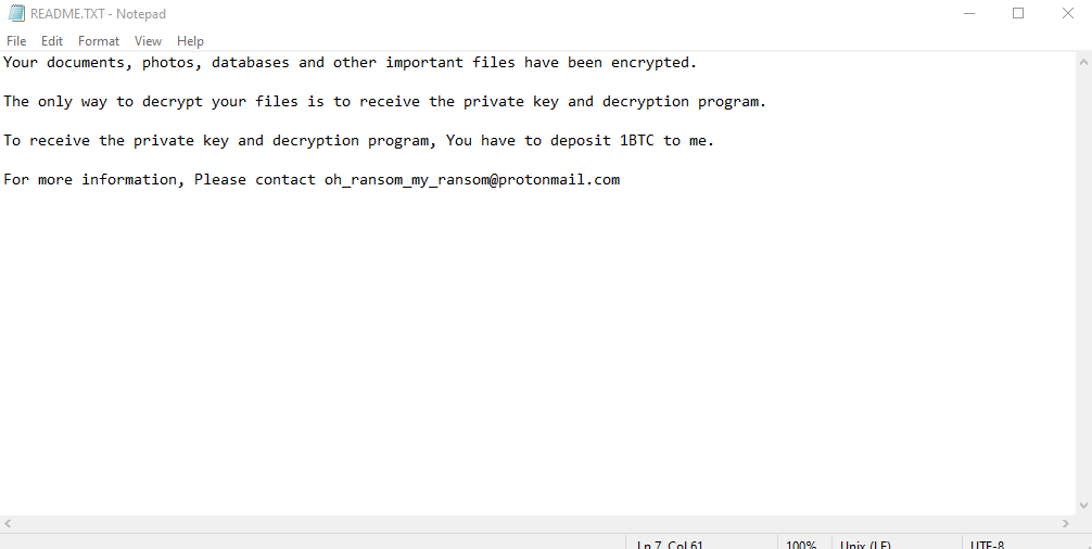 remove MyRansom ransomware