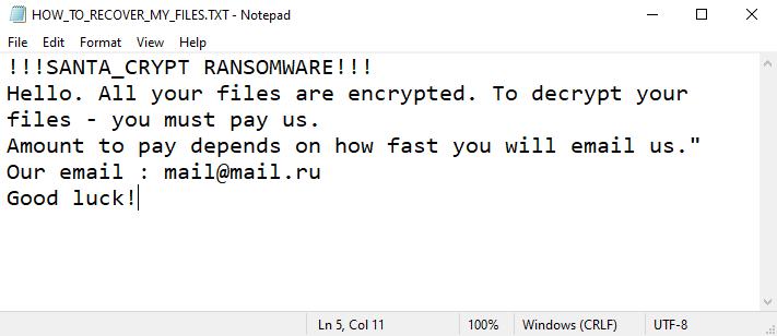remove SantaCrypt ransomware