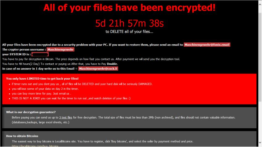 remove Fonix ransomware