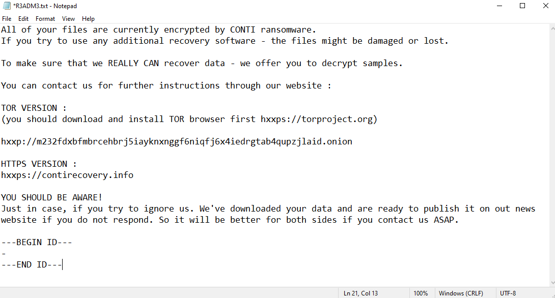 rimuovere XNMMP ransomware