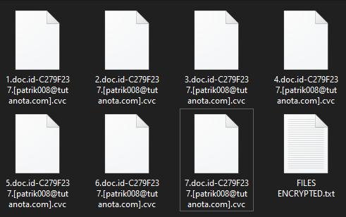 Cvc encrypted files