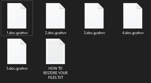 remove Gcahvv ransomware