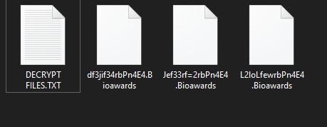 remove Bioawards ransomware