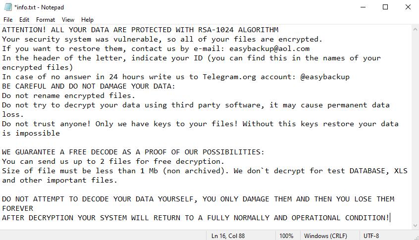 remove Easy ransomware