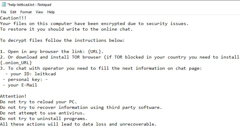 remove Leitkcad ransomware