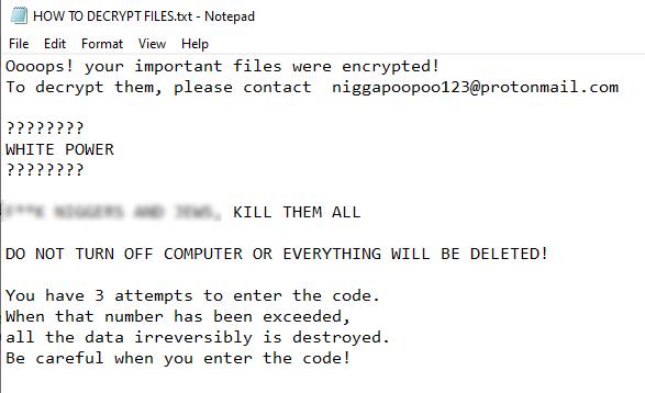 remove NIGG3R ransomware