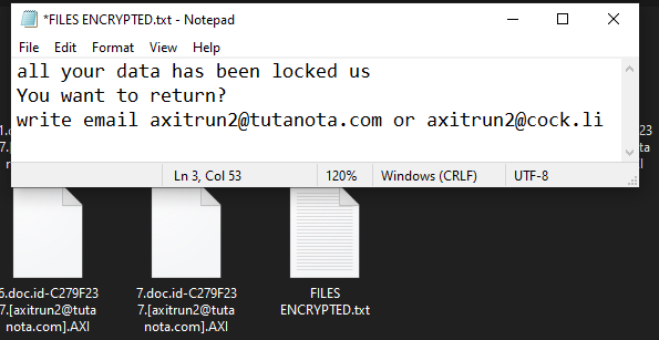 AXI ransomware