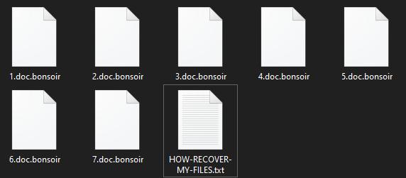 remove Bonsoir virus