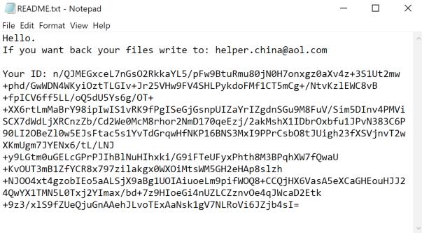 remove ChinaHelper ransomware