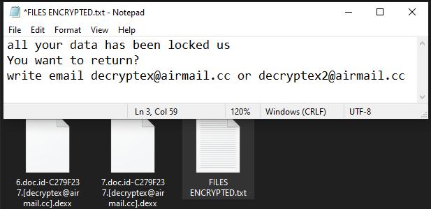 Dexx ransomware