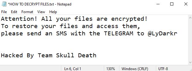 távolítsa el a LyDark ransomware programot