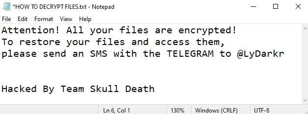 rimuovere LyDark ransomware