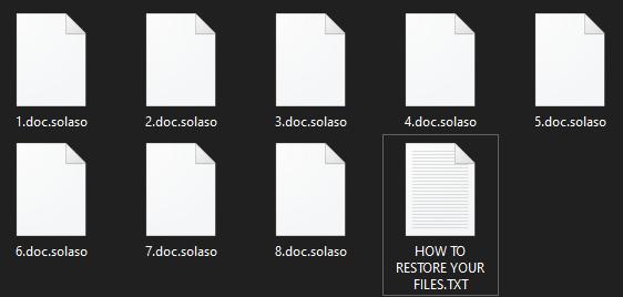 remove Solaso ransomware