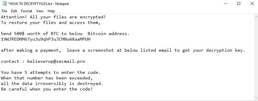 remove Omfl ransomware