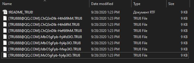 remove TRU8 ransomware