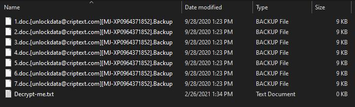 Backup ransomware